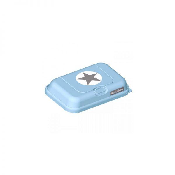 FunkyBox- Porta toalhitas Azul com estrela - Pequena