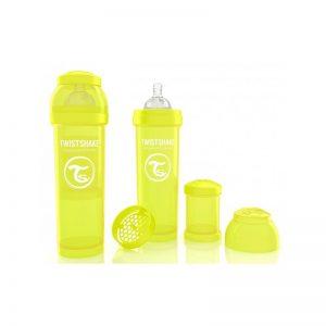 Twistshake - Biberão Anti-colicas - 330ml Amarelo