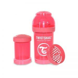 Twistshake - Biberão Anti-cólicas - 180ml Coral