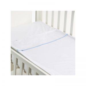 B - Mum - Conjunto de Lençois Safety Baby Bed 120 x 60 cm - Azul/Liso