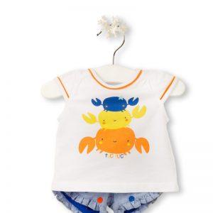 Tuc Tuc - T-Shirt + Calções Fishes Menina (Vários Tamanhos Disponíveis)
