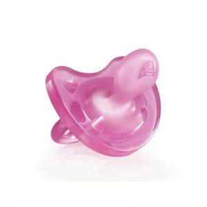 Chicco - Chupeta Physio Soft Silicone Rosa 6-12m