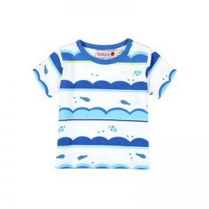Bóboli - T-shirt Estampado Azul Menino