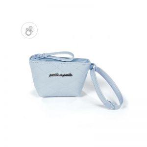 PASITO A PASITO - Porta chupetas Inés Azul