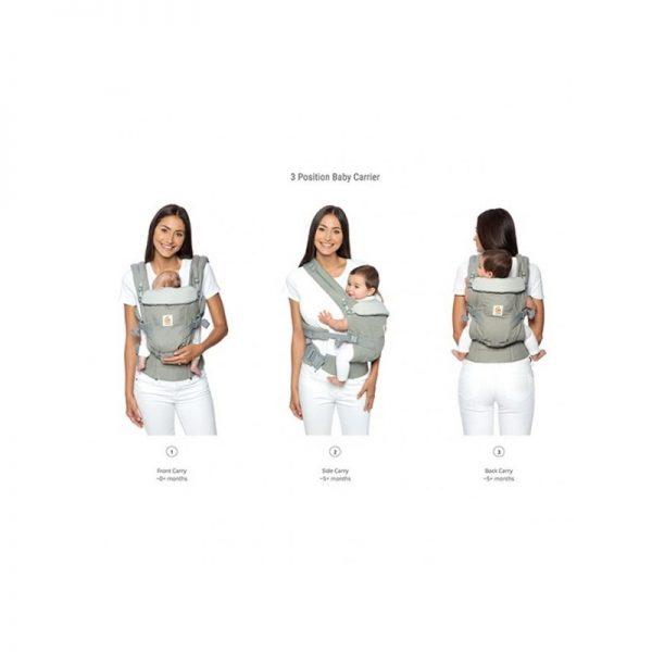 Ergobaby - Porta Bebés Adapt Cool Air Cinza