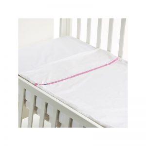 B - Mum - Conjunto de Lençois Safety Baby Bed 50 x 80 cm - Rosa/Liso