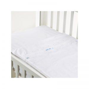 B - Mum - Conjunto de Lençois Inverno Safety Baby Bed 50 x 80 cm - Lacinho Azul