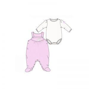 Disney Baby - Jardineira + Body Minnie Rosa (Vários Tamanhos)
