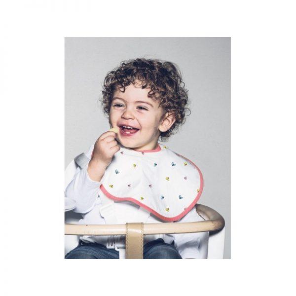 Baby Bites - Babete Impermeável Rosa