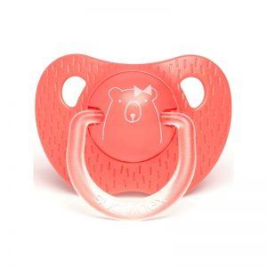 Suavinex - Chupeta Silicone Anatómica Urso Coral 6-18m