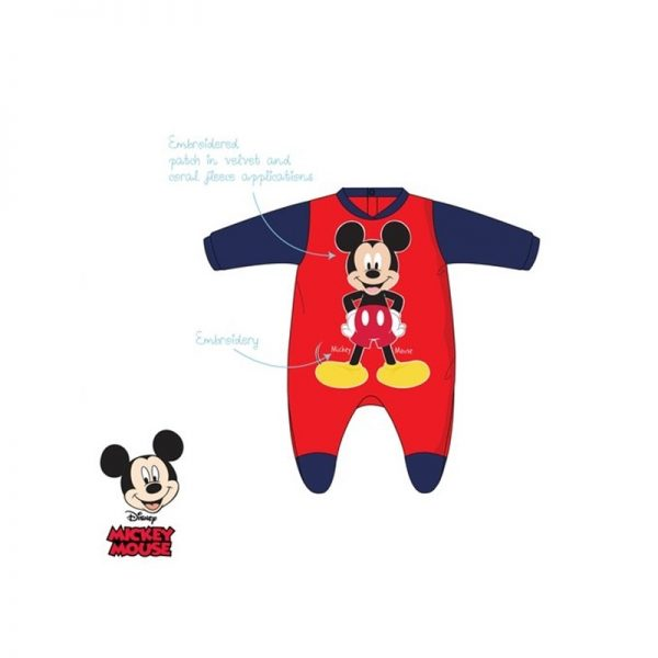 Disney Baby - Babygrow Aveludado Vermelho Mickey