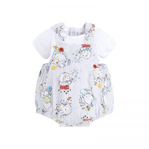 Tuc Tuc - Jardineira Popelina + T-Shirt Menino - So Sweet