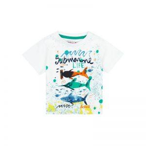 Bóboli - T-Shirt para bebé menino Branco - Over The Rainbow