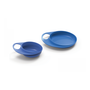 Nuvita - Conjunto de Prato e Tigela - Azul