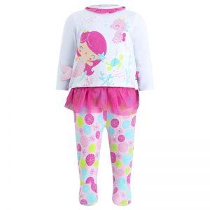 Tuc Tuc - Conjunto para Menina Little Mermaids Rosa