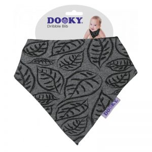 Dooky - Dribble Bib Babete - Grey Leaves