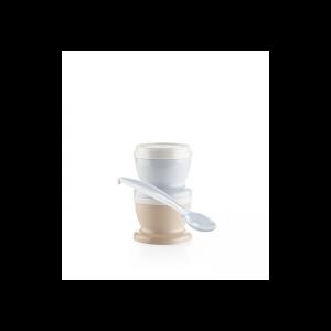 Thermobaby - Conjunto de 2 Recipientes com Colher - Azul Pastel