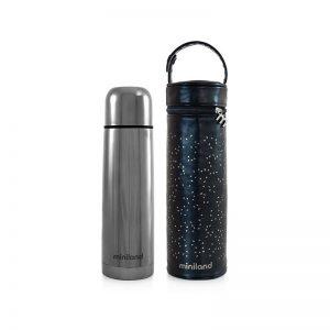 Miniland Deluxe - Termo 500ml + Bolsa Térmica - Silver