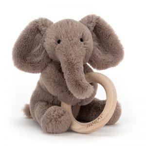 Jellycat - Roca Shooshu Elefante Anel de Madeira
