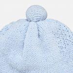 Mayoral – Conjunto Gorro e Luvas Pompom Azul Céu