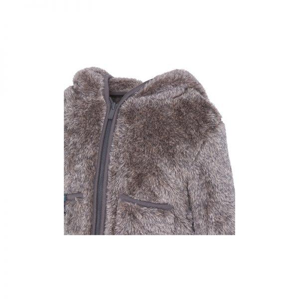 Tuc Tuc - Casaco de Pelo com Capuz Menino Artic Bear - Cinza