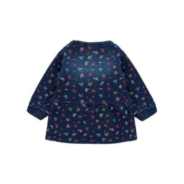 Bóboli - Vestido Felpa Denim Bebé Menina Azul