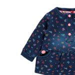 Bóboli – Vestido Felpa Denim Bebé Menina Azul