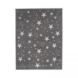 Aratextil - Tapete decorativo - Chuva de Estrelas Cinza